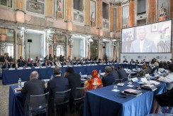 15 October 2015, Milan, Italy - International Mayors Summit, Palazzo Reale, Sala delle Cariatidi, Milan.