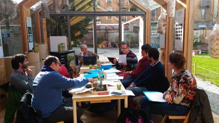 Workshop a Milano tra EStà (Italia), RUAF (Olanda), CES (Portogallo), Schumacher College (Regno Unito)