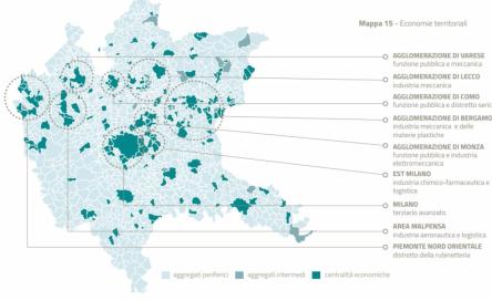 Mappa delle specificità territoriali dell'Area Metropolitana