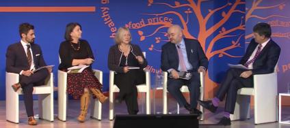 La tavola rotonda sulla sostenibilità dei sistemi alimentari, nel dibattito tra istituzioni e settore privato.