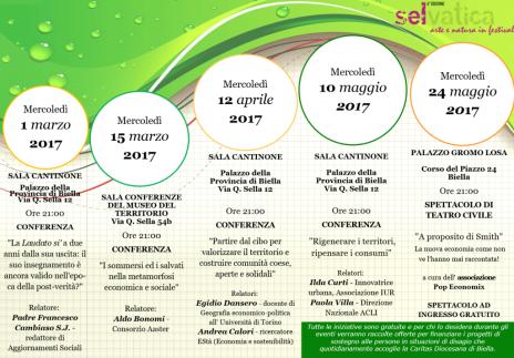 Programma del ciclo di conferenze
