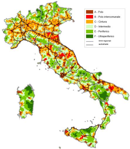Mappa delle aree interne (strategia nazionale)
